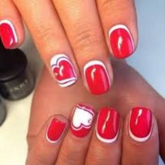 st valentine days nails 2018 foto (15)