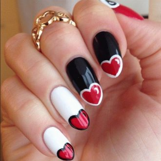 st valentine days nails 2018 foto (9)